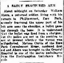 Morning Bulletin (Rockhampton, Qld. : 1878 - 1954), Monday 31 January 1921, page 8 http://nla.gov.au/nla.news-article53974726